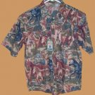 Moda Tech Western Shirt HORSES Boys XL 12/14 NEW