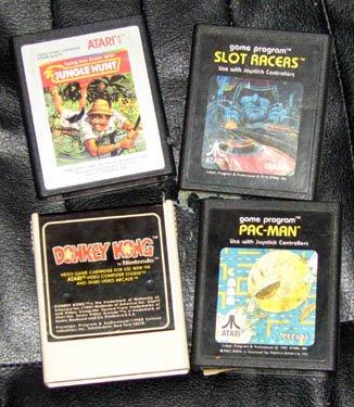 ATARI Lot of 4 Original Games Pac-Man Donkey Kong