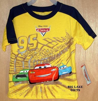 Disney CARS Summer Shirt 3T Top NEW Lightening McQueen