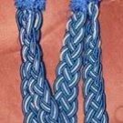 Cobalt Blue & White Braided Curtain Tie-Backs NEW