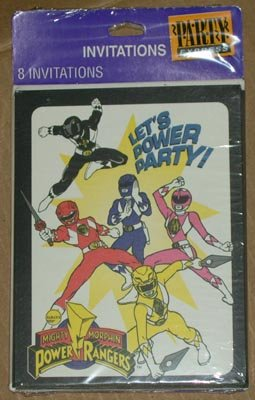 Power Rangers Birthday Invitations NEW Free Shipping