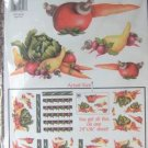 Decoupage Prints Hand-Painted Vegetables - NEW