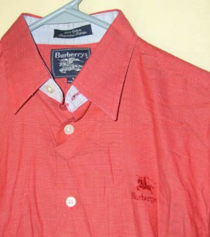 Burberrys Red Button Front Shirt Men's Size Small S