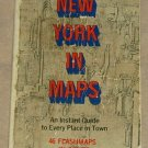 Vintage NEW YORK IN MAPS New York Guide 1969 Dell