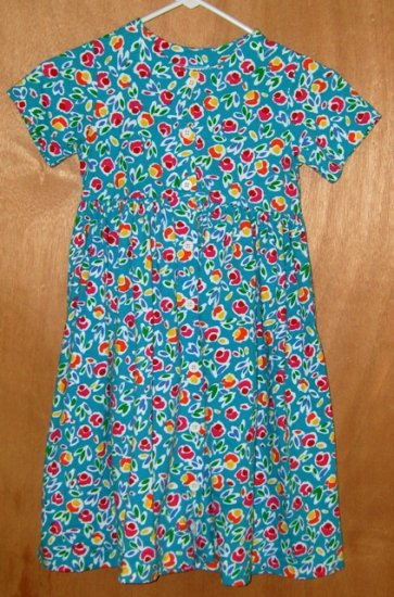 Kelly's Kids Blue Floral Dress Size S 5 6 Free Shipping