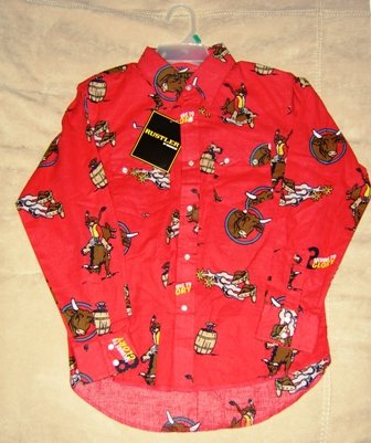 Rustler Rodeo Pearl Snap Western Shirt Size M 8/10 NEW