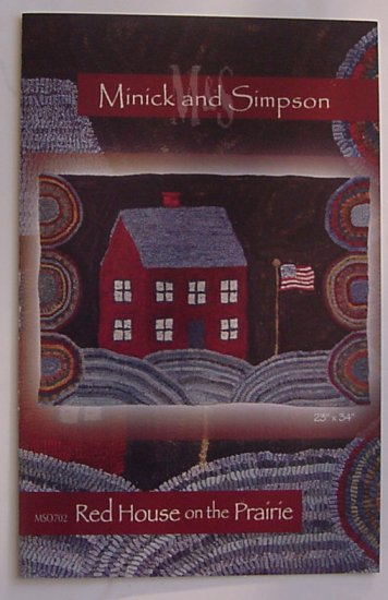 Red House on the Prairie - Rug Hooking Pattern - Minick