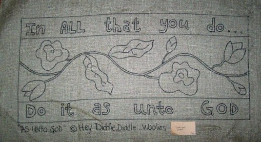 UNTO GOD - Primitive Rug Hooking Pattern on Linen