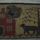 DOG HOUSE - Primitive Rug Hooking Pattern