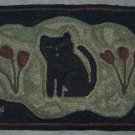 POSY KITTY - Primitive Rug Hooking pattern on Linen