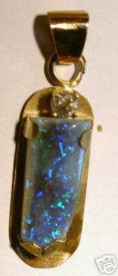 Large 7.5 ct. Black Opal & 1/4 ct. Diamond Pendant