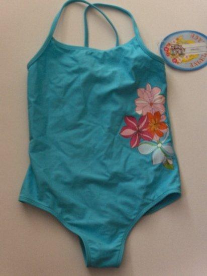 New Angel Beach Girl's one piece blue swimsuit size 10
