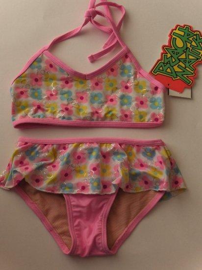 New Girls Beach Native floral bikini two piece swimsuit size 5