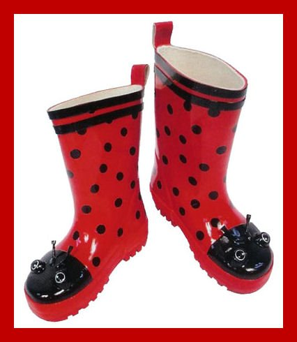 New Kidorable toddler girls Ladybug boots US 9 rain boots for sale