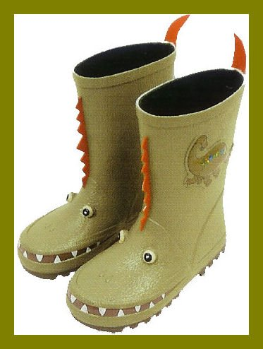 New Kidorable toddler boys Dinosaur US toddler size 10 rain boots for sale