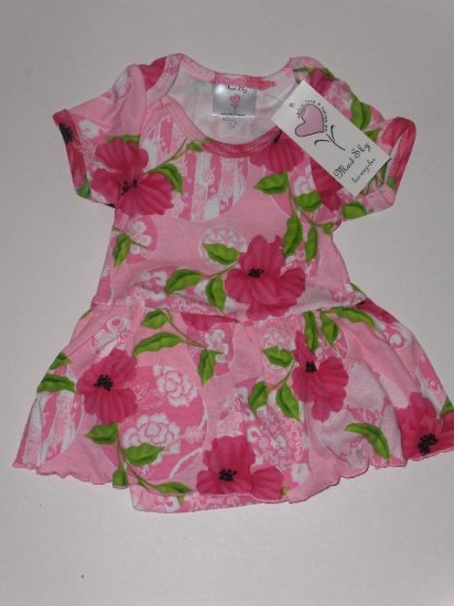 New Mad Sky Palm Beach Polo skirted onesie dress infant girls 9 months