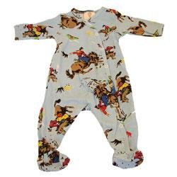 New Baby Boy  Mad Boy by Mad Sky vintage cowboy footie one piece outfit size 9 month