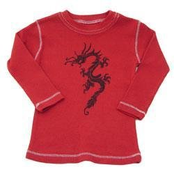 New red City Threads dragon long sleeve tee toddler boys 2T
