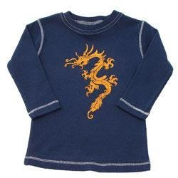 New Blue City Threads boys long sleeve dragon tee infant baby 18 months 24 months
