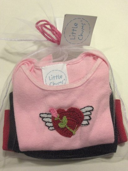 New Best of Chums gift set Born to Love pink short sleeve set size 12 months girls