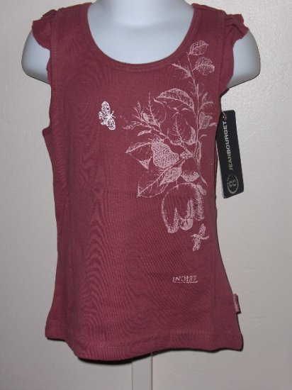 New Jean Bourget Ruffle sleeve flower top size girls 8A/126