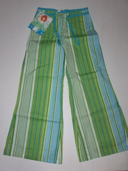 New BLU Striped Wide Leg Pants girls size 7