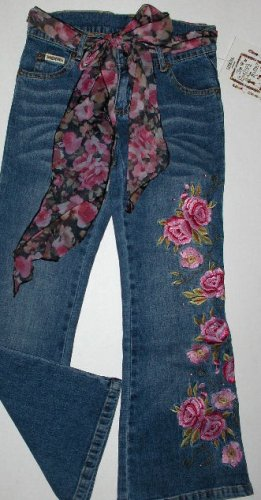 New Lipstik The English Roses by Madonna blushing flowers jeans size 10