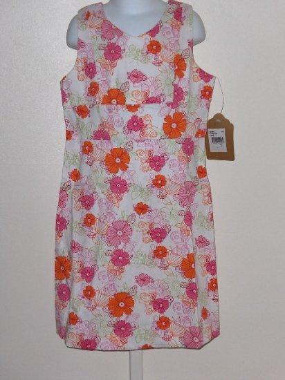 New K.C.Parker by Hartstrings Floral print sun dress girls size 7