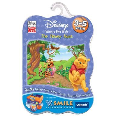 New V.Smile Disney Winnie the Pooh The Honey Hunt Smartridge game for V. Smile ages 3-5 years