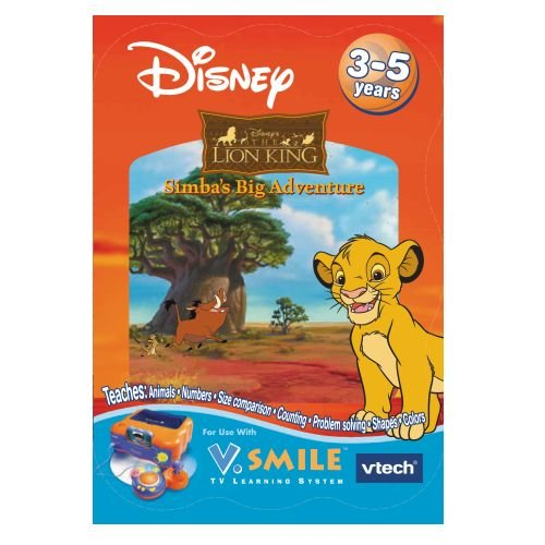 New V.Smile Disney Simba's Big Adventure Smartridge game for V. Smile ages 3-5 years