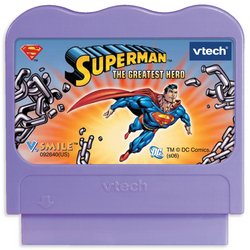 New V.Smile Superman the Greatest Hero Smartridge game for V. Smile ages 6-8 years
