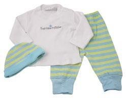 New Elegant Baby hat tee pant set boys hugs kisses giggles 0-6 months