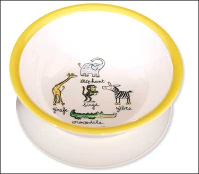 New Baby Cie jungle friends bowl for baby toddler suction bottom