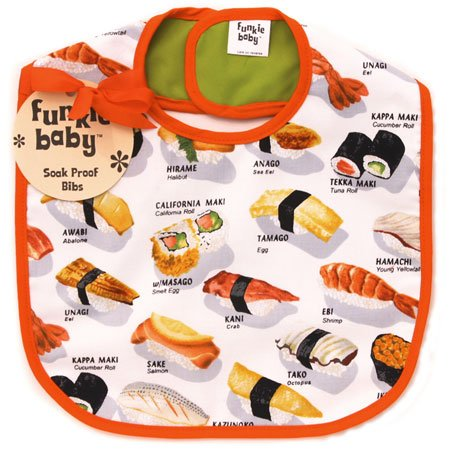 New Funkie Baby sushi bib baby