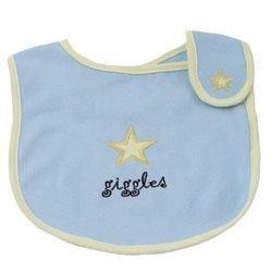 New Elegant Baby blue giggles bib baby boy gift