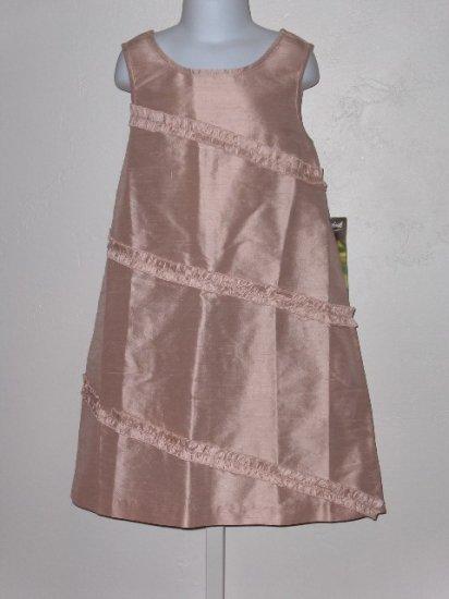 New Silk Dupioni Dress Peach dress girls 7 wedding party