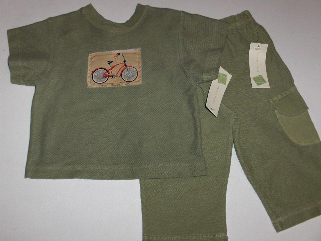 New Cozy Toes infant boys Beach Cruiser top pants set size 6 months all cotton Made in the USA