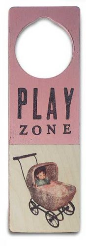 New Tree by Kerri Lee door knob sign pink Play Zone with doll in buggy