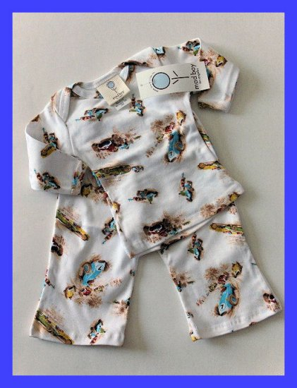 New Baby Boy Mad Boy by Mad Sky Vintage Race Car Pants Top set 9 month