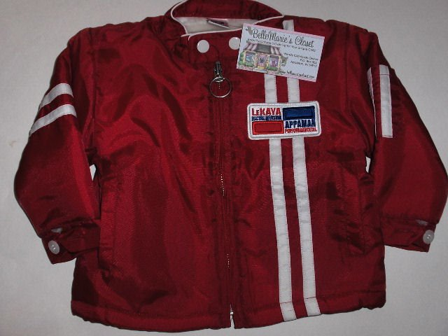 New Appaman Red lined jacket infant boys size 12 months