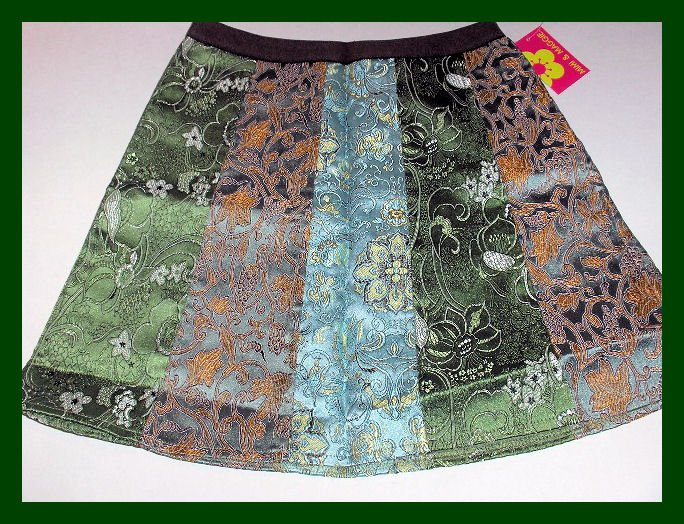 New Mimi & Maggie English Tapestry Mixed Skirt Wintergreen girls size M 10/12