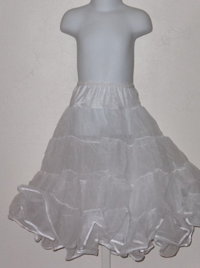New girls size 5 Tea Length half petticoat slip wedding party