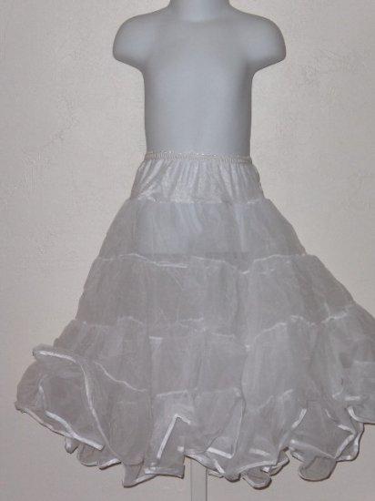 New girls size 7 Tea Length half petticoat slip wedding party