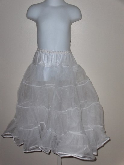 New girls size 16 Tea Length half petticoat slip wedding party