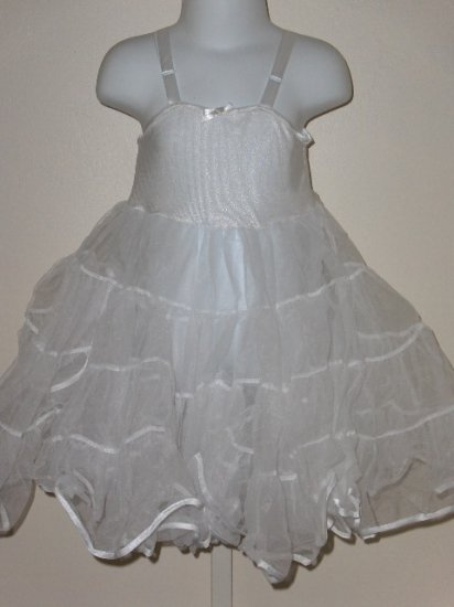 New girls size 4 tea Length full petticoat slip wedding party
