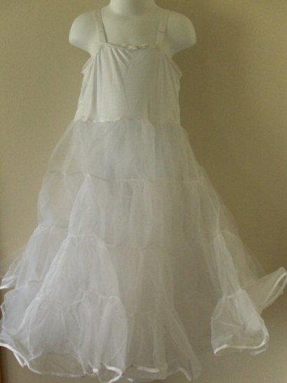 New girls size 7 knee Length full petticoat slip wedding party