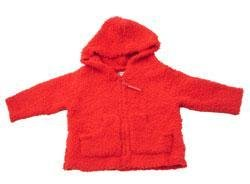 New Baby Jak of San Francisco Red zip up sweater size S 6-12 months