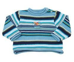 New Boys Kaboo blue striped airplane sweater 3X  3T