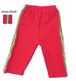 New Urban Smalls red striped track pants boys girls size baby 6-12 months