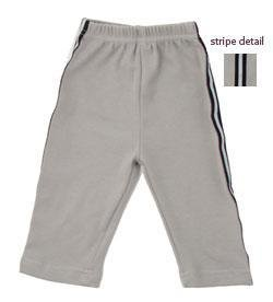 New Urban Smalls gray striped track pants boys size baby 0-6 months